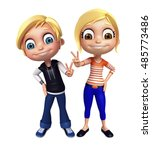 3d rendered illustration of kid ... | Shutterstock . vector #485773486