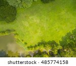 top view of park  natural grass ... | Shutterstock . vector #485774158