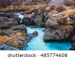 barnafossar waterfall in iceland | Shutterstock . vector #485774608