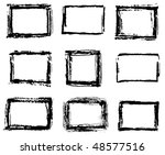 vector set of painted ink... | Shutterstock .eps vector #48577516