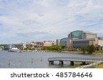 national harbor waterfront... | Shutterstock . vector #485784646