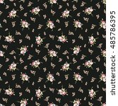 seamless floral pattern with... | Shutterstock .eps vector #485786395