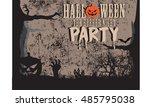 halloween party | Shutterstock .eps vector #485795038