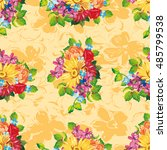 seamless pattern with colorful... | Shutterstock .eps vector #485799538