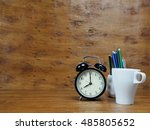 coffee for start to work in the ... | Shutterstock . vector #485805652