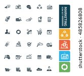 marketing icon set. vector | Shutterstock .eps vector #485826808