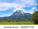 mount kinabalu view from pekan...   Shutterstock . vector #485827735
