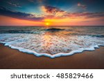 beautiful cloudscape over the...   Shutterstock . vector #485829466