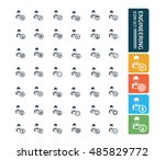 engineering icon set vector | Shutterstock .eps vector #485829772