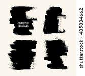 vector set of black brush... | Shutterstock .eps vector #485834662