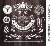 christmas decorations ... | Shutterstock .eps vector #485842942