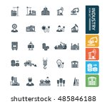industry icon set vector | Shutterstock .eps vector #485846188