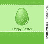 easter greetings card with text ... | Shutterstock . vector #48584641