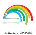 multicolored rainbow with