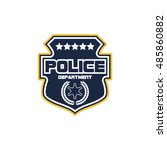 police badge | Shutterstock .eps vector #485860882
