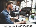 stock exchange trading forex... | Shutterstock . vector #485861542