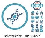 dna replication icon with bonus ... | Shutterstock .eps vector #485863225