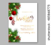 christmas party invitation... | Shutterstock .eps vector #485868775