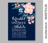 wedding invitation or card with ... | Shutterstock .eps vector #485870128
