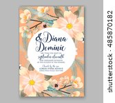 wedding invitation or card with ... | Shutterstock .eps vector #485870182