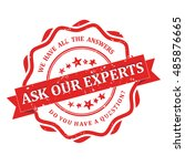 ask our experts. we have all... | Shutterstock .eps vector #485876665
