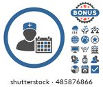 doctor appointment icon with... | Shutterstock .eps vector #485876866