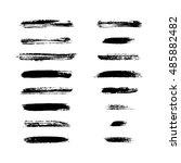 grunge brushes stroke texture... | Shutterstock .eps vector #485882482