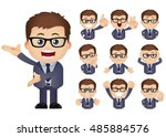 cute set   set of businesspeople | Shutterstock .eps vector #485884576