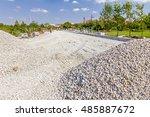 Piles Of Gravel At Road...