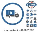 analysis delivery icon with... | Shutterstock .eps vector #485889538