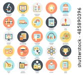 flat conceptual icons pack of... | Shutterstock .eps vector #485890396