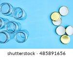 a studio photo of glass storage ... | Shutterstock . vector #485891656