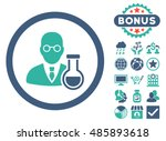 chemist icon with bonus design... | Shutterstock .eps vector #485893618