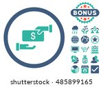 bribe icon with bonus images.... | Shutterstock .eps vector #485899165