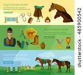 equestrian sport banner...   Shutterstock .eps vector #485900542