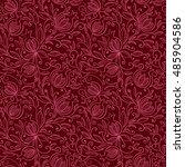 pomegranate seamless pattern.... | Shutterstock .eps vector #485904586