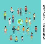 people world infographic.  in... | Shutterstock . vector #485922835