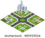 transportation city streets... | Shutterstock .eps vector #485925016