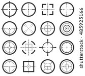 crosshairs vector icons set.... | Shutterstock .eps vector #485925166