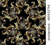 royal elegant baroque damask... | Shutterstock .eps vector #485925796