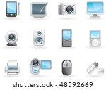 digital electronics icon set.... | Shutterstock .eps vector #48592669