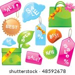 sale labels and tags. colorful  ... | Shutterstock .eps vector #48592678
