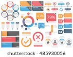 infographic objects for... | Shutterstock .eps vector #485930056