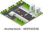 transportation city streets... | Shutterstock .eps vector #485930548