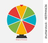 wheel of fortune  lucky icon. ... | Shutterstock . vector #485944636