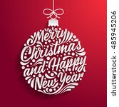 holidays greeting card with a... | Shutterstock .eps vector #485945206