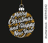 holidays greeting card with a... | Shutterstock .eps vector #485945242