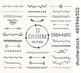 collection of hand drawn... | Shutterstock .eps vector #485946502