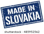 made in slovakia stamp....   Shutterstock .eps vector #485952562