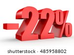 discount 22 percent off. 3d